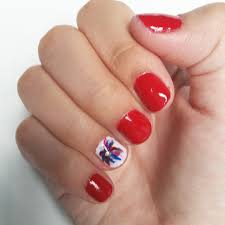 easy 4th of july nail art sorority fashion