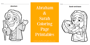 free abraham and sarah coloring pages little cooks reading books