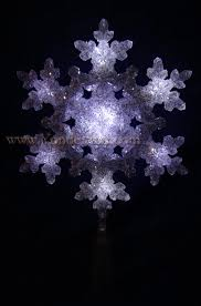 lighted tree topper 10 5 snowflake tree topper led lights yonder