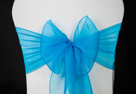 turquoise chair sashes wedding chair cover turquoise organza