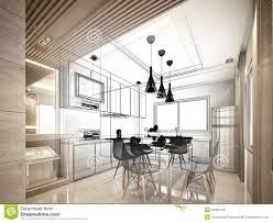 Interior Designs Of Kitchen Kitchen Sketch Stock Image Image 28337621