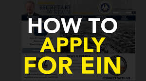 how to apply for ein with irs youtube