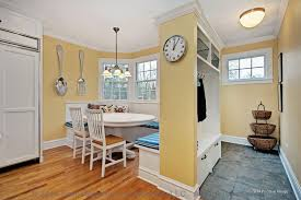 traditional dining room with hardwood floors u0026 breakfast nook in