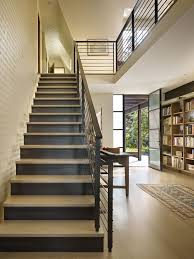 Modern Banister Rails Words On Walls Staircase Contemporary With Stair Rails Seattle