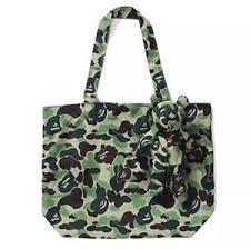eco bag a bathing ape abc camo eco bag bear charm tote shoulder bag new
