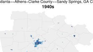 Atlanta County Map Watch Atlanta U0027s Insane Growth From 1940 To The 2000s U2013 Breslanta