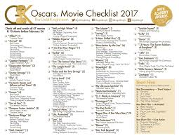 your 2017 oscar party essentials printable oscars ballot and