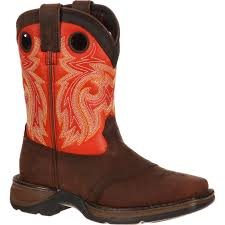 flat biker boots lil u0027 durango big kid saddle western boot dbt0115