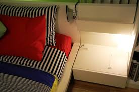 Bed With Attached Nightstands Best Ikea Nightstand To Complete Your Bedroom Storage And Decor