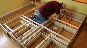 Building A Platform Bed Frame With Drawers by Platform Bed With Drawers Woodworking For Mere Mortals