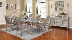 danette metallic platinum rectangular dining room set from coaster danette metallic platinum rectangular dining room set764679
