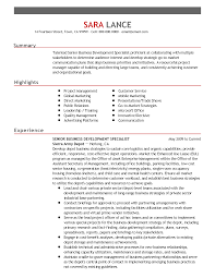Trade Resume Examples Professional Senior Business Development Specialist Templates To