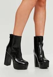 s heeled ankle boots uk s boots faux leather and suede boots missguided