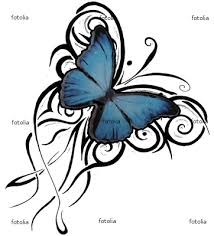 modification tribal butterfly tattoo design