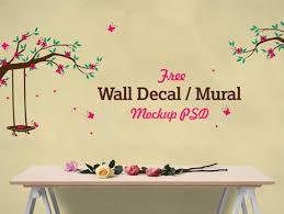 bedroom wall mural vinyl decal psd mockup psd mockups bedroom wall mural vinyl decal psd mockup