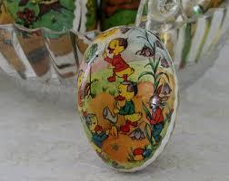 german paper mache easter eggs west germany paper mache easter egg bunny rooster goose and