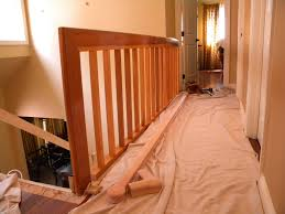 Replace Stair Banister Wood Stairs And Rails And Iron Balusters August 2010
