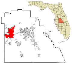 Greater Orlando Area Map by Lakeland Florida Wikipedia