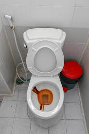 pot de chambre toilette sale et pot de chambre l eau rouillée dans la cuvette