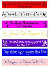 congratulations engagement banner personalised congratulations engagement party banners banner 100mm