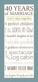40th anniversary gifts for parents 40th wedding anniversary gift ideas parents awesome weding marvelous
