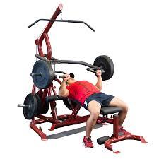 body solid corner leverage gym u0026 flat incline decline bench