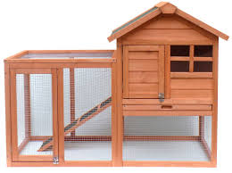 Rabbit Hutch Designs Merax Wooden Rabbit Hutch With Fence And Ramp U0026 Reviews Wayfair