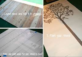 stencil some wood wall pieces hometalk