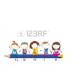frame colorful crayons happy kids royalty free cliparts