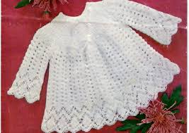 Vintage Style Baby Clothes Pdf Knitting Pattern Baby Sweater Top Baby Baby Dress