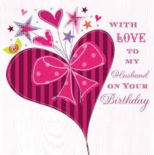with love to my husband on your birthday