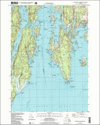 State Of Maine Map by 1997 Boothbay Harbor Maine Historical Topographic Map