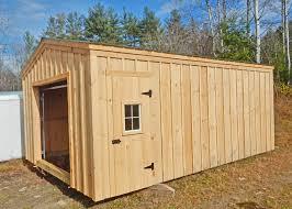 Barn Garage Doors 14x20 Shed Post And Beam Garage Kits Jamaica Cottage Shop