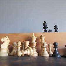 Wooden Chess Set Vintage
