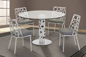 dining room table ls armen living berlin gray 5pc dining room set the classy home