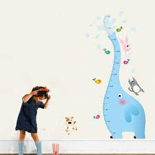 childrens animal wall stickers all about kids cartoon decor animal wall stickers height measurement growth