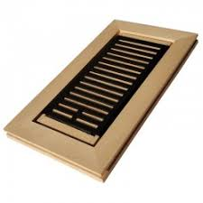 maple wood vent covers floor register flush mount with frame