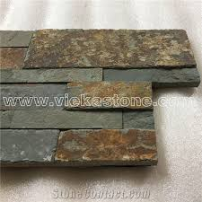 Stacked Stone Veneer Interior China Multicolor Rusty Slate Stacked Stone Veneer Wall Cladding