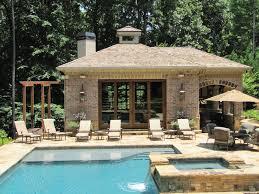 House With Swimming Pool Atlanta Pool Builder Custom Pool Houses Pavilions Photos
