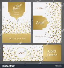 Golden Wedding Invitation Cards Golden Decor Template Frame Greeting Card Stock Vector 352068851