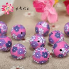 aliexpress com buy 50pc lots 10mm fimo polymer clay spacer round
