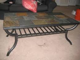 tile top coffee table charming slate top coffee table with 13 best wrought iron tile top