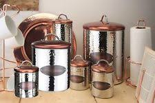 copper kitchen canisters copper kitchen canisters jars ebay