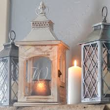 personalized decorative rustic glass candle lantern