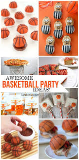 basketball party table decorations basketball party treats and diy decorations landeelu com