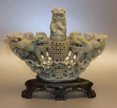 carving soapstone antique carved soapstone incense burner foo dogs sold