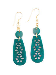 green earrings handmade earrings mata traders ethical fashion
