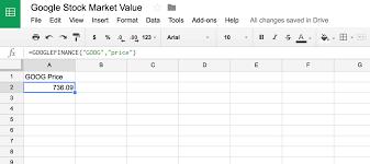 Formulas For Spreadsheets Use Google Sheets U0027 Googlefinance Function To Display Data In