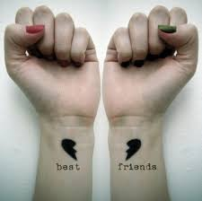 colorful cute best friend tattoo ideas on wrist tattoo design ideas