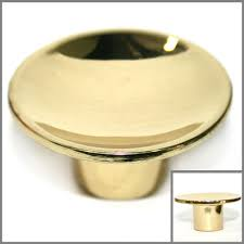 round gold polished brass cabinet knobs drawer pull hardware 1 5